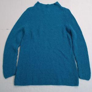 Neiman Marcus - Cowl Neck Sweater - Teal - Medium